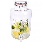 Schramm Getränkespender Zapfhahnflasche Saftkanne mit Zapfhahn Weckglasoptik Trinkgläser Cocktail Drinking Jar 7.5 Liter