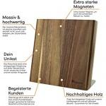 Magnetischer Messerblock aus Akazien Holz | Messerhalter magnetisch ideal zur schonenden Aufbewahrung von hochwertigen Messern für eine aufgeräumte Küche (unbestückt / ohne Messer)