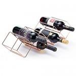 Bar Craft Weinregal stapelbar für 7 Flaschen aus Kupfer 8 x 16 x 26 cm