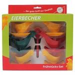 "Frühstücks-Set ""Hühnerfamilie"" - Kulteierbecher - Sonja-PLASTIC - Made in Germany"