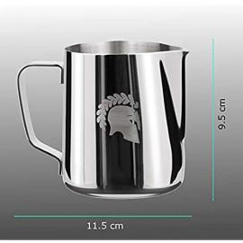 Barista Legends® Milchkännchen Edelstahl - mit speziellem Latte Art Ausguss - Milchkanne für Hobby Barista aus Hochglanz poliertem 304 Edelstahl