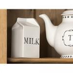 Creative Tops Stir It Up Milchkarton aus Keramik Elfenbeinfarben und Schwarz