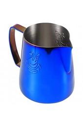Alinory Verbrühungshemmender Schaumkrug 400 ml Schaumbecher Edelstahl 304 für Cafe Latte Art Haushaltskaffeezubehör
