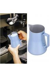 Dampfende Krüge Milchschäumkrug aus rostfreiem Stahl 550 ml ungiftig für das Milchcafé(blue 550ml)