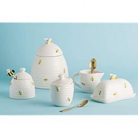 Home Essentials Honey Bee Sugar Bowl and Creamer Set