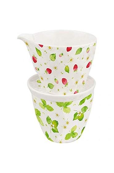 IHR Porzellan Milch- u. Zuckerset Strawberry Season