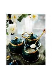 Keramik Tangki Penyimpanan Bumbu Dapur Jar Rumah Tangga Kotak Bumbu Botol Minyak Garam - 3 Stück