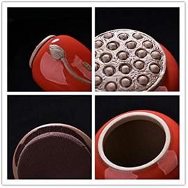 PINGS Chinesischen Stil Retro Tee Vorratsgläser Mini Zuckerdose Mit Deckel Lotus Muster Bonbonglas Flasche Für Küchengewürze Keramikglas geyaomihuang M