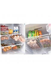 Kühlschrank-Organizer Schubladen Organizer Einzigartiges Design Pull Out Behälter für Aufbewahrungsbox Haus Organizer Kühlschrankbox für Lebensmittel (Gemüse Obst und Eier) und Küchenutensilien