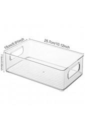 QUUY Kühlschrank Aufbewahrungsbox Klarer Kunststoff Pantry Organizer Stapelbare Behälter Mit Griffen Kühlschrank Organizer Für Küche Arbeitsplatten Schränke