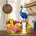WYFFF Obstkorb Glas Obstschale Dekoschale Home Wohnzimmer Dekoration Ornamente Für Kitchen Food Dessert Obst Gemüse Snacks Blau