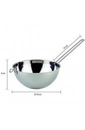 APS Wasserbadschüssel Bain-Marie Schüssel hochglanzpoliert mit Drahtgriff Ø 18 cm Höhe 9 cm für 1 5 l Volumen Edelstahl 18/8