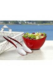 Esmeyer Set Wing Salatschüssel Kunststoff rot 23 cm