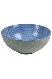 Villa d'Este Home Tivoli 5903243 Baku Salatschüssel 25 cm grau-blau Porzellan