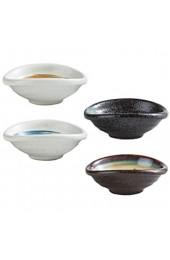 Hemoton 4 Stück Saucenschälchen Japanischer Stil Dipschalen Keramik Schälchen Tauchen Sushi Dip Schüsseln Snack Servierschalen Sojasauce Vorspeise Schalen Kleine Dessertschalen