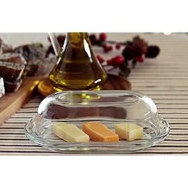 Pasabahce 98402 – Butterdose Frischhaltedose Basic 19 7 x 13 1 cm 2-TLG aus Glas
