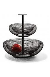 Philippi - MESH Etagere - Obst oder Brötchen Etagere 2 Ebenen- Modernes luftiges Design