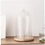 Aardich Glas Cloche Glasglocke Dome mit Holzgestell