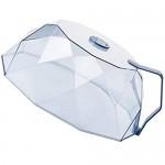 Cabilock Mikrowelle Platte Abdeckung Transparent Mikrowelle Splatter Abdeckung Geometrische Kuchen Dome Abdeckung Essen Zelt Dessert Käse Cloche Dome Blau