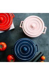 Gourmet Multifunction Dutch Sven Keramik Suppenschüssel mit Deckel Retro runder Topf K 1.26quart (1.2L) Food Warmer Warmer