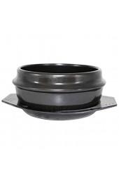 Korean Stone Bowl brutzelnder Hot Pot Keramikauflauf für Bibimbap & Suppe Korean Food Black 14 5 * 7 cm