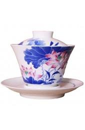Xiang Ye Keramik-Terrine mit Gott greift eine Tasse handbemalt Blau und Weiß