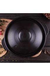 zvcv Herd Keramik Auflauf brutzelnden heißen Topf für Bibimbap und Suppe Jjiage Koreanisches Essen koreanische Dolsot Stone Bowl Bai 0.73quart