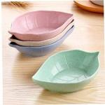 4pcs Mini-blätter Dish Kid Schüssel Weizenstroh Sojasauce Teller Reis-schüssel-Teller Sub - Platte Japanisches Geschirr Nahrungsmittelbehälter