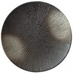 DAGONGREN Teller , Matte Keramik Auflaufform einzigartige individuelle runde Pasta Lasagne Pan kleine Teller (Size : 25.5cm)