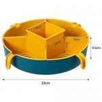 Küchenablauf Korbbrüfter Gemüseabteilung Beckenschale Hot Pot Storage Platte Obst Platte Snack Fach (Farbe: c) WTZ012 (Color : C)