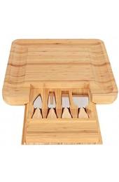 Omabeta Bambus Material Käseplatte Charcuterie Board Robustes Käse Schneidebrett für Einweihungsparty Geschenk