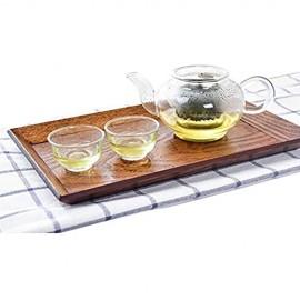 N / C Hochwertiger Massivholz-Teller für den Haushalt Teetablett leicht zu reinigen sehr gut geeignet für Familienfeiern Kaffeetische Esstische