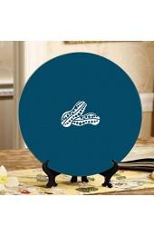 Köstliche rohe Erdnussschoten-dekorative Platten für Küchen-Dekor-Platte Home Wobble-Platte mit Display-Ständer Dekoration Haushalt Kleine Keramikplatte