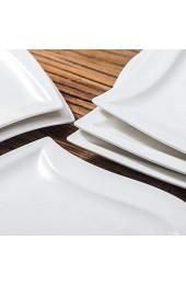 MALACASA Serie Elvira 12 teilig Set CremeWeiß Porzellan Kuchenteller Dessertteller Frühstücksteller 8 5 Zoll / 21 5x21x2cm für 12 Personen