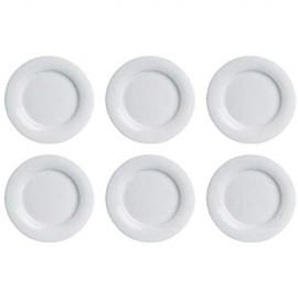 Weissestal DE000009 Tavola Frühstücksteller Porzellan Ø 22cm H 2cm weiß (6 Stück)