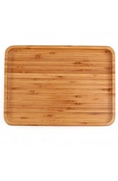 Bamboo Plates 2 Pack Cheese Plates Coffee Tea Serving Tray Fruit platters Party Dinner Plates Sour Candy Tray 13 x 9 x 0.8 inches