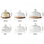 Steak Teller Geeignet for die Anzeige von 6/8/10 Zoll Kuchen Tabletts Rotating Pastry-Rack mit Deckel Dessert Tabelle Transparente Glaskuppel Pizza Dome Salat Platte ( Color : B  Size : 28.2cm )