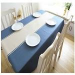 CFWL Blaue Baumwolle und Leinen schwarz einfache Tischdecke Restaurant Tischdecke Stil B 140 * 230cm ischdecke deko tischdecke übergröße beschichtete tischdecke Karierte