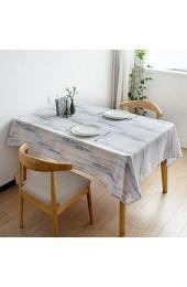 CFWL Bedruckte Wasser- Und öLbestäNdige Tischdecke Gestreifte Couchtischdecke Tischdecke Abwaschbar Meterware Tischdecke Netz Tischdecke Lotuseffekt Leinenoptik Tischdecke Papier Grau 90Cm*145Cm