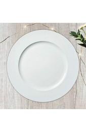 Dekoteller ca. Ø 33cm weiß│Kunststoff-Teller für individuelle Tischdekoration │moderner Platzteller (1 x Dekoteller weiß)