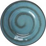 zvcv Cerami-Ofen im japanischen Stil glasiert blaugrün Keramikplatte breite Seite Flache Platte Home Snack Pasta Dessert westlichen Steak Teller Ramen Salat Suppe Obstschale