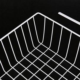 Aufbewahrungskorb zum Aufhängen unter dem Regal hängender Draht-Aufbewahrungskorb unter dem Schrank geeignet für Küche Büro Speisekammer Badezimmer Schrank (groß weiß) (Farbe)