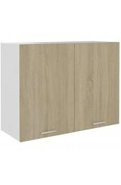 Kshzmoto Spanplattenmaterial Küchenschrank Haushaltsküchenschrank 80 x 31 x 60 cm-Sonoma Oak
