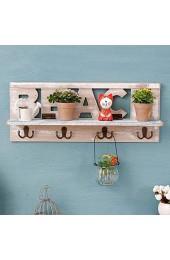 PIVFEDQX Multifunktions Vintage Vintage Rack Blumenregal Mit Haken Aufbewahrungseinheit Village-Locker Wandschrank Im Amerikanischen Stil FüR Wohnzimmer KüChe Holz Cremeweiß (19 7 * 4 3 * 7 9 Zoll)