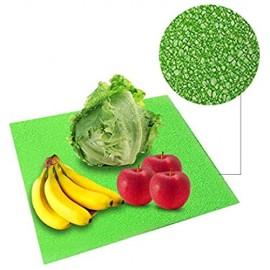 KKDIY 4pcs Kühlschrank Pads Schaum Kühlschrank Obst Gemüse Frische Matten 382x255x3mm Home Schublade Wasserdicht Staubdicht Pad Antifouling-USA Grün M Rechteckig