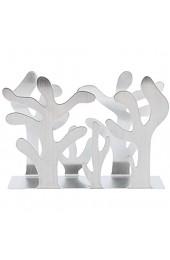 Raguso Serviettenhalter Silber Pflanzen Form Edelstahl Serviettenhalter Moderne Metall Serviettenhalter Tischdekoration Serviettenregal