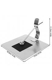 Serviettenhalter Edelstahl-Flachpapier Serviettenhalter Quadratischer Gewebespender für Küchenarbeitsplatten/Esstisch/Restaurant